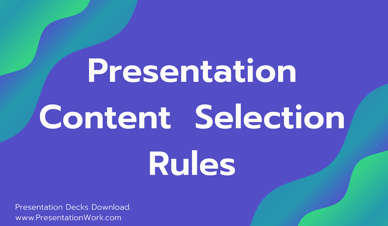 Photo of Content Selection Rules for Creating Presentations: Presentation Making Rules