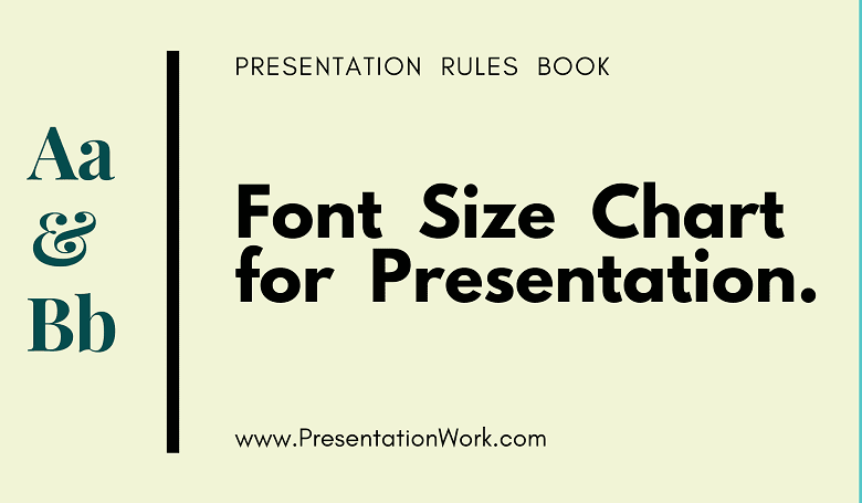 Photo of Best Font Size Chart for Presentation Slide: Font Size Selection for a Presentation in a  Large Hall